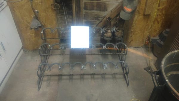 Horse Shoe Boot Rack Holding 12 Pairs of boots
