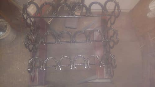 Boot Rack that Holds 9 pairs of boots